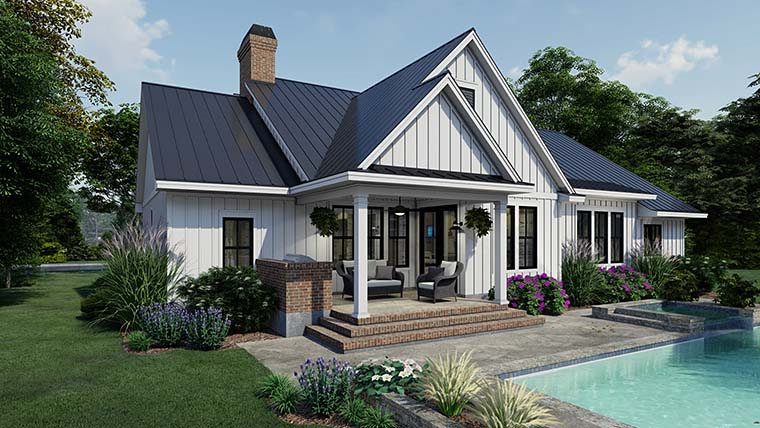 Cottage, Country, Farmhouse Plan with 2192 Sq. Ft., 4 Bedrooms, 3 Bathrooms, 2 Car Garage Picture 6