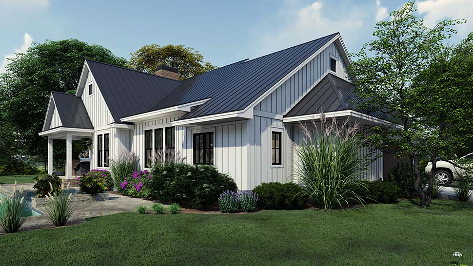 Cottage, Country, Farmhouse Plan with 2192 Sq. Ft., 4 Bedrooms, 3 Bathrooms, 2 Car Garage Picture 8
