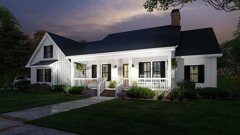 Cottage, Country, Farmhouse Plan with 2192 Sq. Ft., 4 Bedrooms, 3 Bathrooms, 2 Car Garage Picture 10