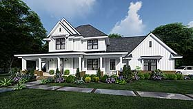 Country , Farmhouse House Plan 75164 with 4 Beds, 4 Baths, 3 Car Garage Elevation