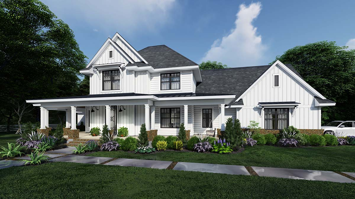 Country Farmhouse Elevation of Plan 75164