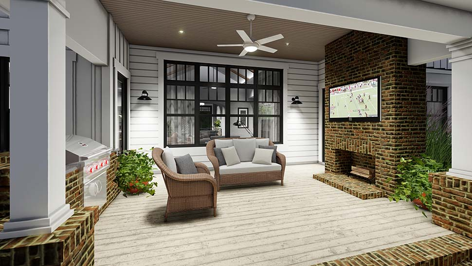Country, Farmhouse House Plan 75164 with 4 Beds, 4 Baths, 3 Car Garage Picture 11