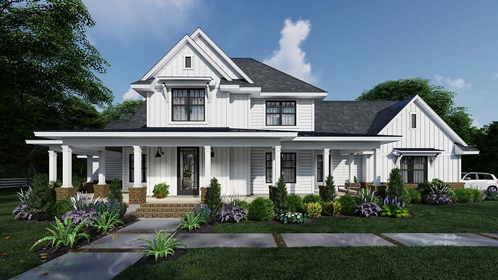Country, Farmhouse House Plan 75164 with 4 Beds, 4 Baths, 3 Car Garage Picture 14