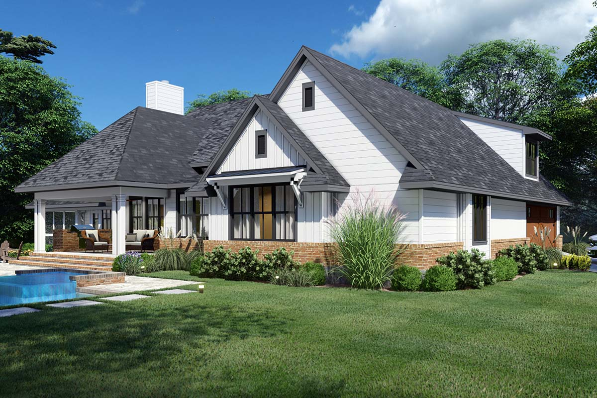 Country, Farmhouse, Ranch, Southern House Plan 75168 with 4 Beds, 4 Baths, 2 Car Garage Picture 2