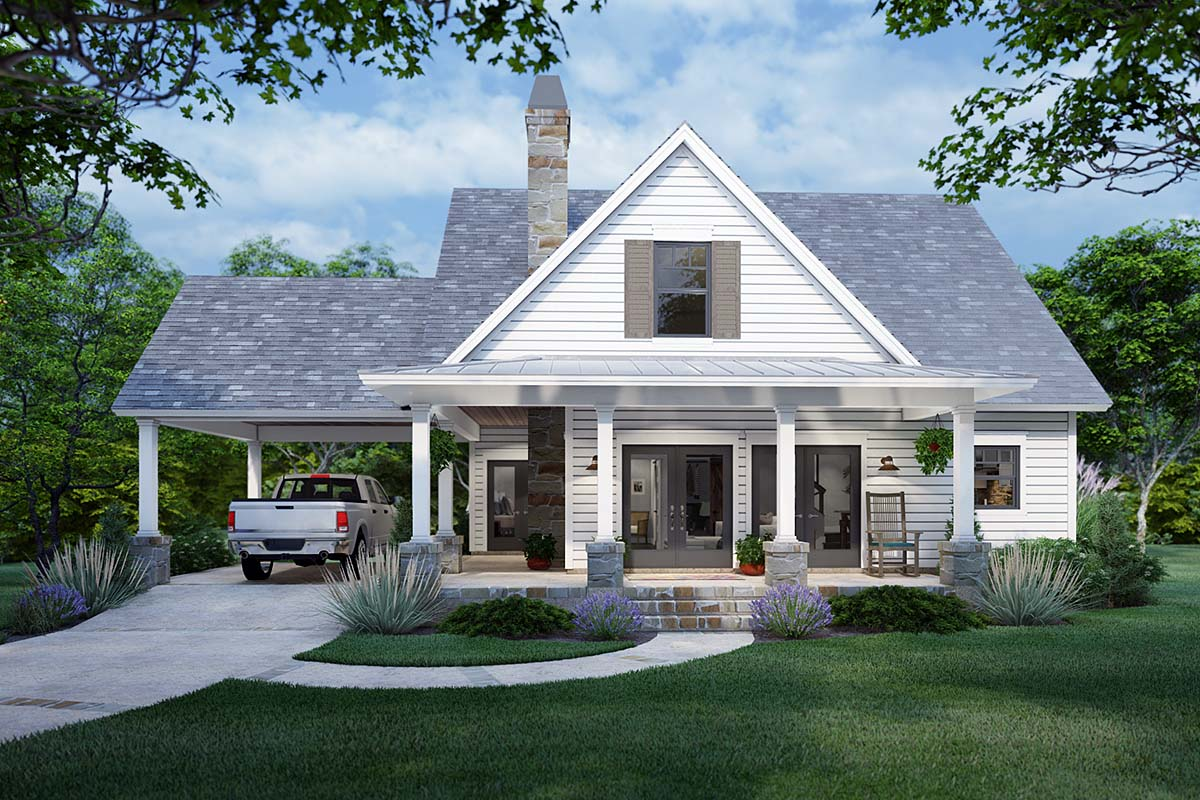 Cottage, Farmhouse House Plan 75170 with 3 Beds, 2 Baths Elevation
