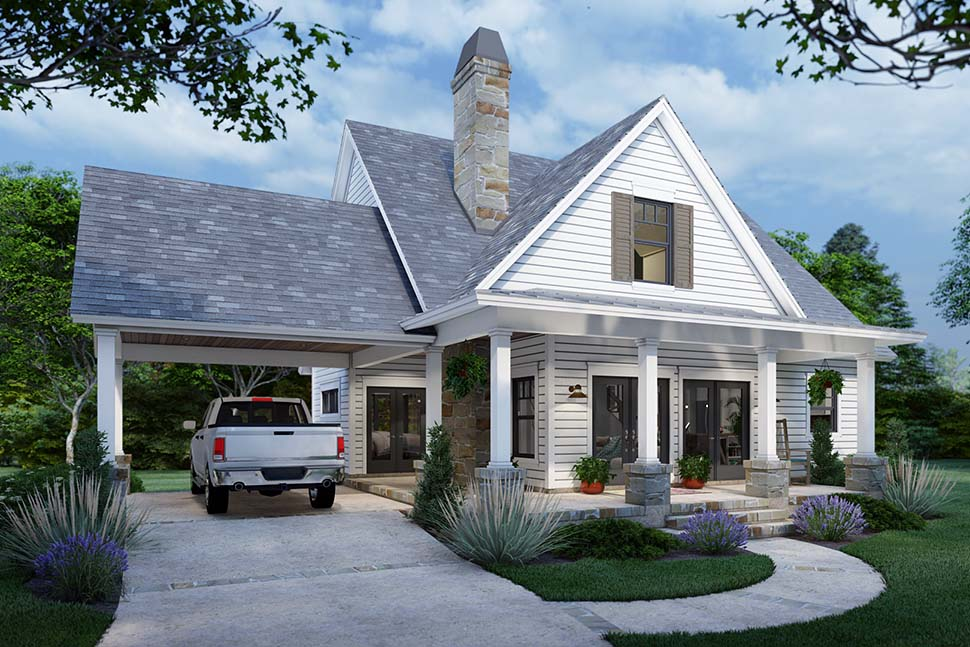 Cottage, Farmhouse House Plan 75170 with 3 Beds, 2 Baths Picture 2