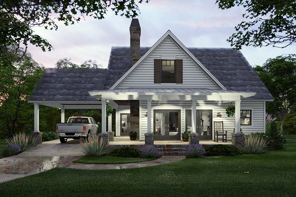 Cottage, Farmhouse House Plan 75170 with 3 Beds, 2 Baths Picture 4