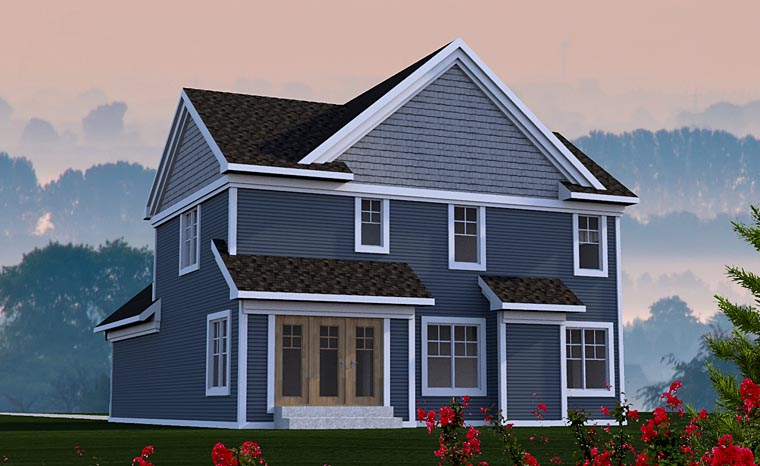 Cottage Craftsman Traditional House Plan 75205 Rear Elevation