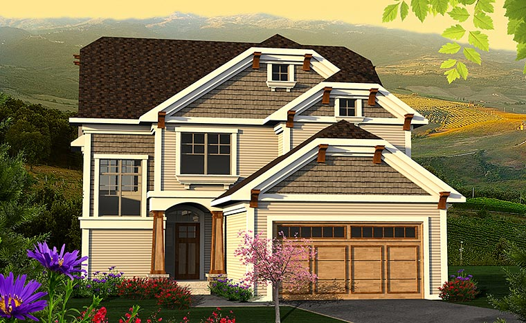 Cottage Craftsman Traditional House Plan 75206 Elevation