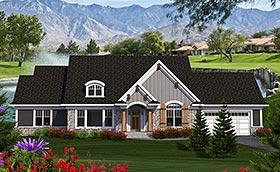 Cottage Craftsman Traditional House Plan 75209 Elevation