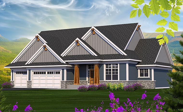 Craftsman Traditional Elevation of Plan 75210