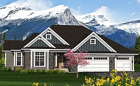 Traditional House Plan 75212 Elevation