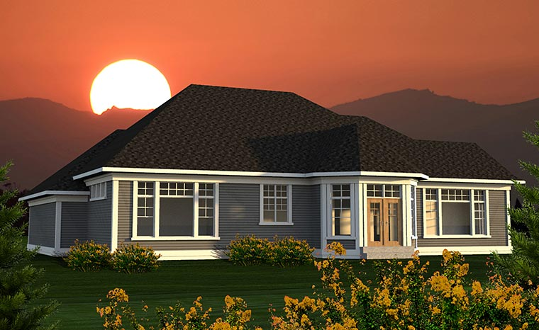 Traditional House Plan 75212 Rear Elevation