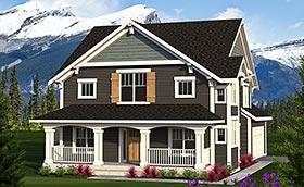 Craftsman Traditional House Plan 75214 Elevation