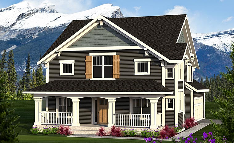 Craftsman Traditional House Plan 75214 Elevation