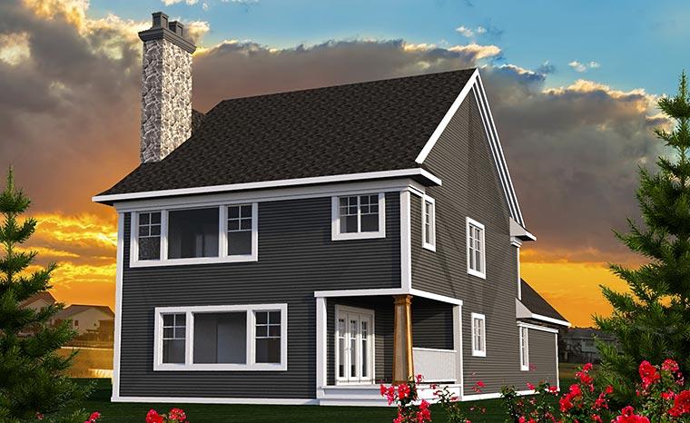Cottage Craftsman Traditional House Plan 75215 Rear Elevation