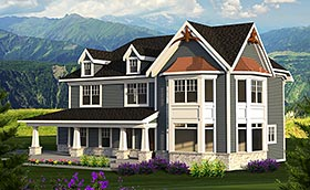Country Craftsman House Plan 75216 Elevation