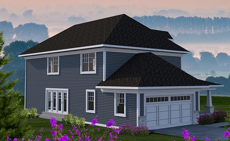 Country Craftsman House Plan 75216 Rear Elevation