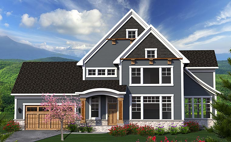 Traditional House Plan 75218 with 3 Beds, 3 Baths, 2 Car Garage Elevation