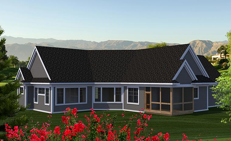 Craftsman Traditional House Plan 75219 Rear Elevation