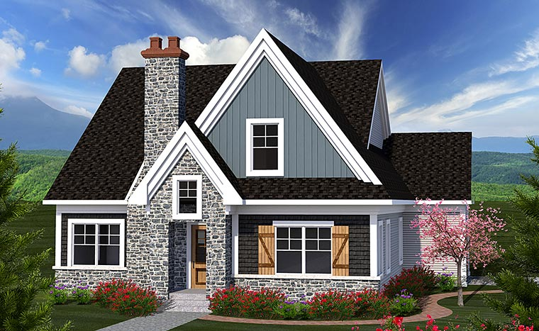 Cottage Traditional House Plan 75222 Elevation