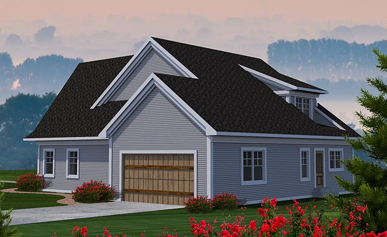 Cottage Traditional House Plan 75222 Rear Elevation
