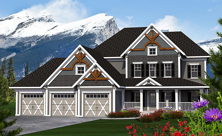 Traditional House Plan 75224 Elevation