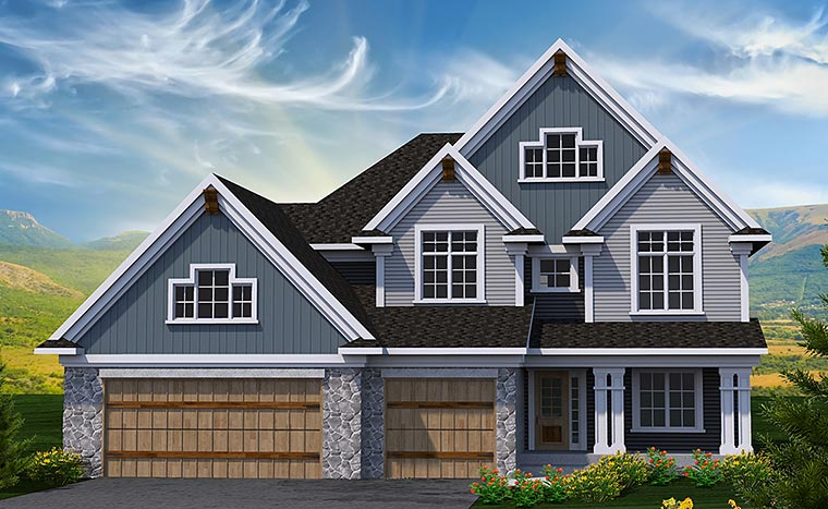Traditional House Plan 75225 Elevation