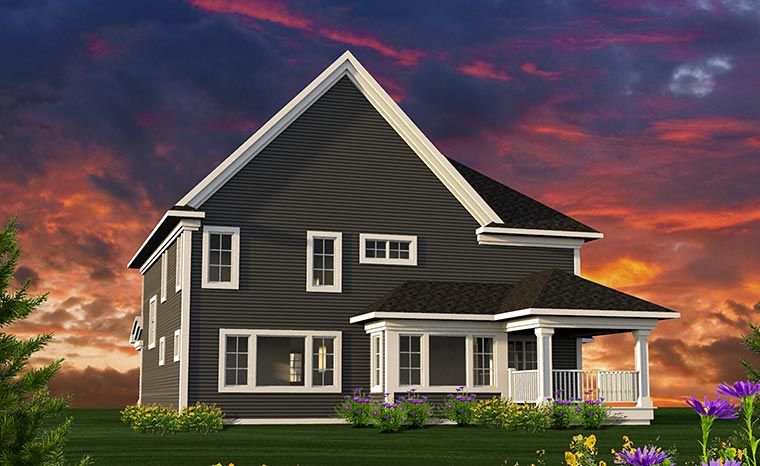 Traditional House Plan 75225 Rear Elevation