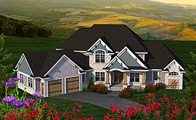 Craftsman European Traditional House Plan 75227 Elevation