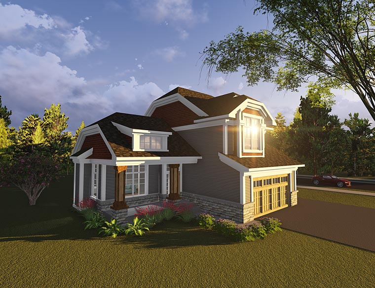 House Plan 75230 | Bungalow, Cottage, Craftsman Style House Plan with 1526 Sq Ft, 3 Bed, 2 Bath, 3 Car Garage Elevation