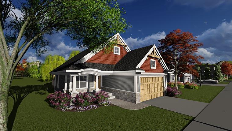 Bungalow Cottage Craftsman House Plan 75232 Elevation