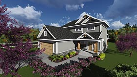 Traditional , Craftsman , Country , Cottage , Bungalow House Plan 75233 with 3 Beds, 3 Baths, 2 Car Garage Elevation