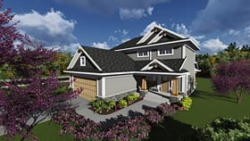 Bungalow Cottage Country Craftsman Traditional House Plan 75233 Elevation