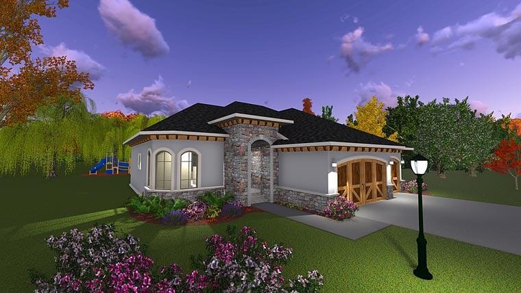 Craftsman European Italian House Plan 75234