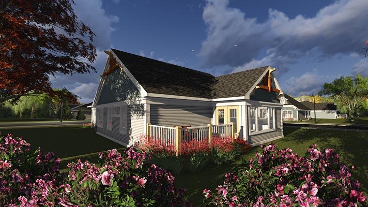 Bungalow Cottage Craftsman House Plan 75235 Rear Elevation