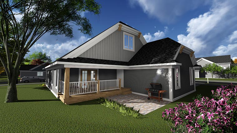 Contemporary Craftsman House Plan 75236 Rear Elevation
