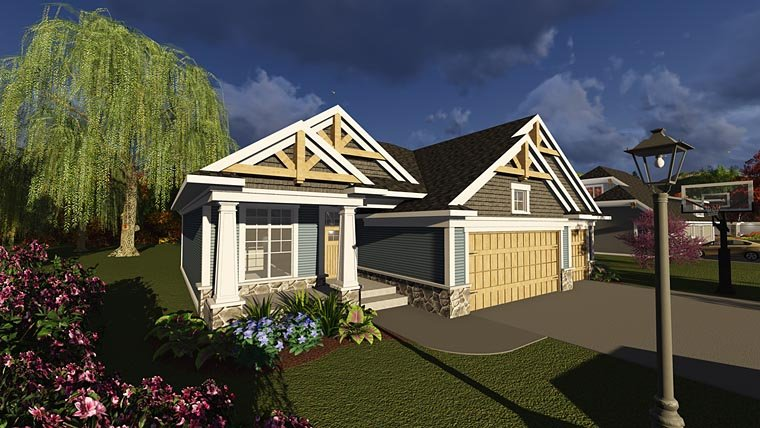 Bungalow Cottage Craftsman Tudor House Plan 75238 Elevation