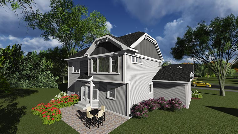 Bungalow Cottage Traditional House Plan 75241 Rear Elevation