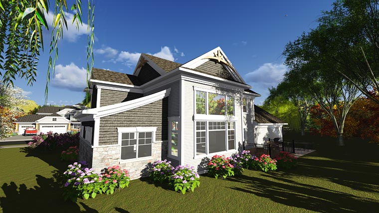 Bungalow Cottage Craftsman Traditional House Plan 75243 Rear Elevation