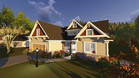 House Plan 75245 | Bungalow Cottage Craftsman Style Plan with 2867 Sq Ft, 4 Bedrooms, 4 Bathrooms, 2 Car Garage Elevation