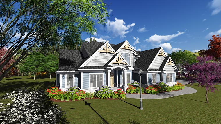 Country Traditional House Plan 75246 Elevation