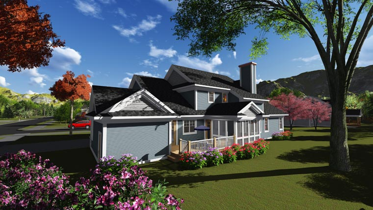 Country Traditional House Plan 75246 Rear Elevation