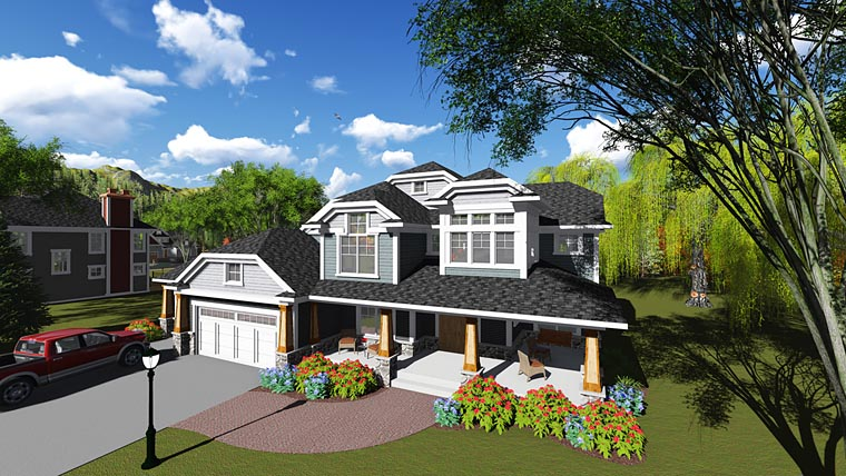 Craftsman , Contemporary , Bungalow House Plan 75249 with 6 Beds, 5 Baths, 3 Car Garage Elevation