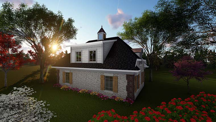 Garage Plan 75252 Rear Elevation