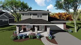 Contemporary Southwest House Plan 75254 Elevation