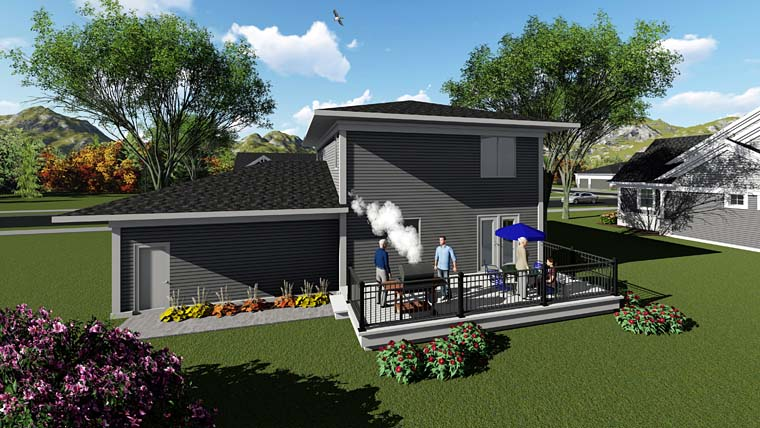 Contemporary Southwest House Plan 75254 Rear Elevation