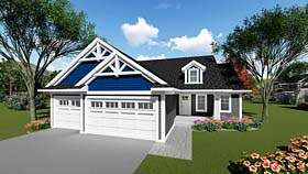 Country Craftsman House Plan 75255 Elevation