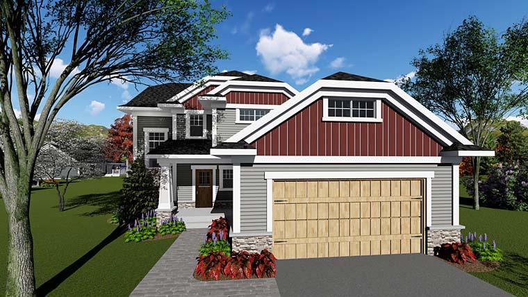 Cottage Craftsman House Plan 75256 Elevation