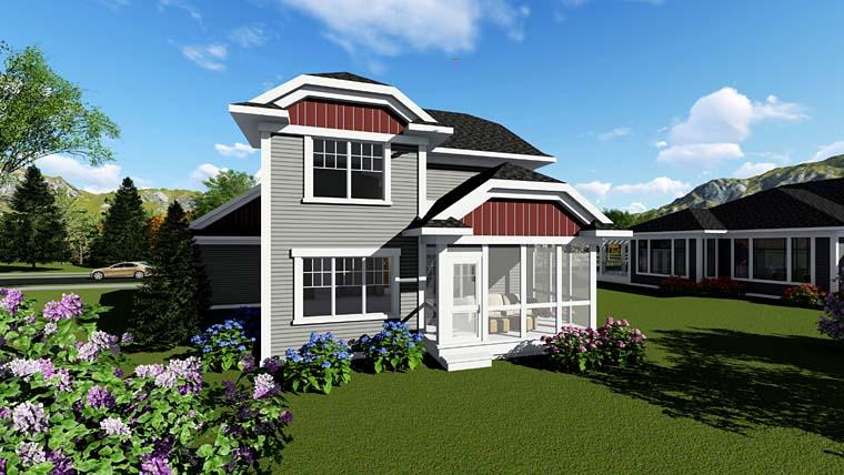 Cottage Craftsman House Plan 75256 Rear Elevation